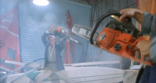 Video: Awesome Chainsaw Fight People really go after those deals at Home Depot