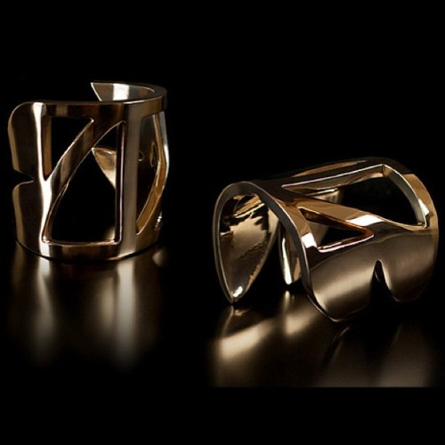 Fin Cuffs #gold #armcandy #handmade #brooklyn #jewelry www.brashcat.com