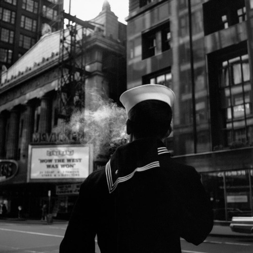 """ Sailor — 1966 ""  ….  Photographer:  Vivian Maier"