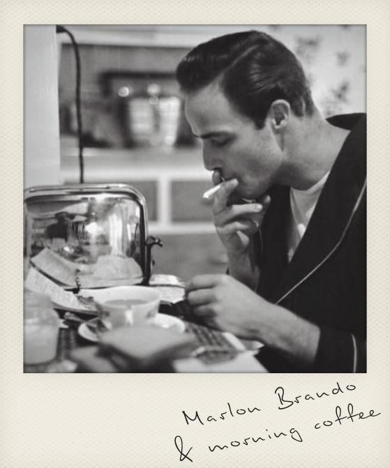 Marlon Brando & morning coffee  Coffee & Music : Coffeeplaylist Americano