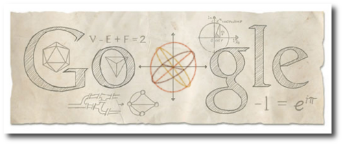 scienceisbeauty:  The today's Doodle goes to the great Leonhard Euler, born 306 year ago.