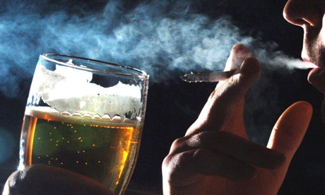 "neurosciencestuff:  Individuals who drink heavily and smoke may show 'early aging' of the brain Alcohol treatment interventions work best when patients understand and are actively involved in the process. A first-of-its-kind study looks at the interactive effects of smoking status and age on neurocognition in one-month-abstinent alcohol dependent (AD) individuals in treatment. Results show that AD individuals who currently smoke have more problems with memory, ability to think quickly and efficiently, and problem-solving skills than those who do not smoke, effects which seem to become greater with increasing age. Treatment for alcohol use disorders works best if the patient actively understands and incorporates the interventions provided in the clinic. Multiple factors can influence both the type and degree of neurocognitive abnormalities found during early abstinence, including chronic cigarette smoking and increasing age. A new study is the first to look at the interactive effects of smoking status and age on neurocognition in treatment-seeking alcohol dependent (AD) individuals. Findings show that AD individuals who currently smoke show more problems with memory, ability to think quickly and efficiently, and problem-solving skills than those who don't smoke, effects which seem to become exacerbated with age. Results will be published in the October 2013 issue of Alcoholism: Clinical & Experimental Research and are currently available at Early View. ""Several factors – nutrition, exercise, comorbid medical conditions such as hypertension and diabetes, psychiatric conditions such as depressive disorders and post-traumatic stress disorder, and genetic predispositions – may also influence cognitive functioning during early abstinence,"" explained Timothy C. Durazzo, assistant professor in the department of radiology and biomedical imaging at the University of California San Francisco, and corresponding author for the study. ""We focused on the effects of chronic cigarette smoking and increasing age on cognition because previous research suggested that each has independent, adverse affects on multiple aspects of cognition and brain biology in people with and without alcohol use disorders. This previous research also indicated that the adverse effects of smoking on the brain accumulate over time. Therefore, we predicted that AD, active chronic smokers would show the greatest decline in cognitive abilities with increasing age."" ""The independent and interactive effects of smoking and other drug use on cognitive functioning among individuals with AD are largely unknown,"" added Alecia Dager, associate research scientist in the department of psychiatry at Yale University. ""This is problematic because many heavy drinkers also smoke. Furthermore, in treatment programs for alcoholism, the issue of smoking may be largely ignored. This study provides evidence of greater cognitive difficulties in alcoholics who also smoke, which could offer important insights for treatment programs. First, individuals with AD who also smoke may have more difficulty remembering, integrating, and implementing treatment strategies. Second, there are clear benefits for thinking skills as a result of quitting both substances."" Durazzo and his colleagues compared the neurocognitive functioning of four groups of participants, all between the ages of 26 and 71 years of age: never-smoking healthy individuals or ""controls"" (n=39); and one-month abstinent, treatment-seeking AD individuals, who were never-smokers (n = 30), former-smokers (n = 21) and active-smokers (n = 68). Evaluated cognitive abilities included cognitive efficiency, executive functions, fine motor skills, general intelligence, learning and memory, processing speed, visuospatial functions, and working memory. ""We found that, at one month of abstinence, actively smoking AD [individuals] had greater-than-normal age effects on measures of learning, memory, processing speed, reasoning and problem-solving, and fine motor skills,"" said Durazzo. ""AD never-smokers and former-smokers showed equivalent changes on all measures with increasing age as the never-smoking controls. These results indicate the combination of alcohol dependence and active chronic smoking was related to an abnormal decline in multiple cognitive functions with increasing age."" ""These results indicate the combined effects of these drugs are especially harmful and become even more apparent in older age,"" said Dager. ""In general, people show cognitive decline in older age. However, it seems that years of combined alcohol and cigarette use exacerbate this process, contributing to an even greater decline in thinking skills in later years."" Durazzo agreed. ""Chronic cigarette smoking, excessive alcohol consumption, and increasing age are all associated with increased oxidative damage to brain tissue,"" he said. ""Oxidative damage results from increased levels of free radicals and other compounds that directly injure neurons and other cells that make up the brain. Cigarette smoking and excessive alcohol consumption expose the brain to a tremendous amount of free radicals. We hypothesize that chronic, long-term exposure to cigarette smoke and excessive alcohol consumption interacts with the normal aging process to produce greater neurocognitive decline in the active-smoking AD group."" Cigarette smoking is a ""modifiable health risk"" that is directly associated with at least 440,000 deaths every year in the United States, Durazzo noted. ""Chronic smoking, and to a lesser extent, alcohol use disorders are also associated with an increased risk for Alzheimer's disease,"" he said. ""So, the combination of these modifiable health risks may place an individual at even greater risk for development of Alzheimer's disease. Given the above, in conjunction with the findings from our cognitive and neuroimaging research, we completely support programs that routinely offer smoking cessation programs to all individuals seeking treatment for alcohol/substance abuse disorders."""
