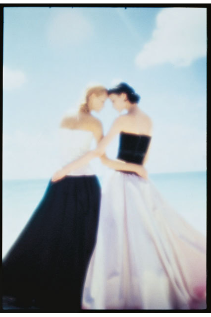 Amber Valletta and Shalom Harlow photographed by Nick Knight for the May 1995 issue.