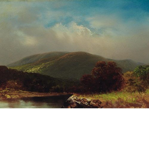 "centuriespast:  Dr. Edward Ruggles American, 1817-1867 White Mountains, New Hampshire Inscribed Ruggles and Mr. T. J. Shepard… on the reverse Oil on board 5 1/2 x 7 3/8 inches ""An eccentric physician and painter in Brooklyn,"" Edward Ruggles abandoned his medical career to devote himself to painting. His small oil paintings were known as Ruggles Gems and were avidly sought by the end of his life. An honorary member of the National Academy of Design, he exhibited both there and at the American Art Union, and nine of his New Hampshire views were published by the Prang lithographic firm. After his death, a notice published in The New York Times on December 15, 1867, advertised a final, posthumous, sale of Ruggles Gems at the Leeds Art Galleries. The unidentified author waxed fulsome, commenting that ""As a colorist, as an illustrator of nature, as an artistic scholar and critic, the merits of Dr. Ruggles are as highly appreciated by the best judges as they have latterly been by the general public; and the eagerness to obtain his pictures almost taxed to the last point his extraordinary  Doyle New York"