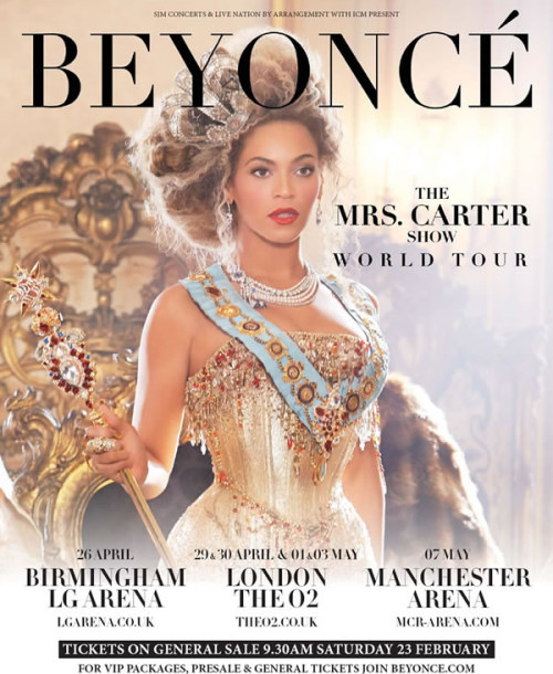 BEYONCE Mrs. Carter world tour!