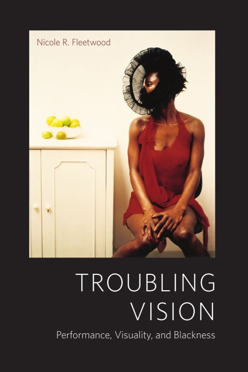"soulbrotherv2:  Troubling Vision: Performance, Visuality, and Blackness by Nicole R. Fleetwood Troubling Vision addresses American culture's fixation on black visibility, exploring how blackness is persistently seen as a problem in public culture and even in black scholarship that challenges racist discourse. Through trenchant analysis, Nicole R. Fleetwood reorients the problem of black visibility by turning attention to what it means to see blackness and to the performative codes that reinforce, resignify, and disrupt its meaning. Working across visual theory and performance studies, Fleetwood asks, How is the black body visualized as both familiar and disruptive? How might we investigate the black body as a troubling presence to the scopic regimes that define it as such? How is value assessed based on visible blackness?Fleetwood documents multiple forms of engagement with the visual, even as she meticulously underscores how the terms of engagement change in various performative contexts. Examining a range of practices from the documentary photography of Charles ""Teenie"" Harris to the ""excess flesh"" performances of black female artists and pop stars to the media art of Fatimah Tuggar to the iconicity of Michael Jackson, Fleetwood reveals and reconfigures the mechanics, codes, and metaphors of blackness in visual culture."