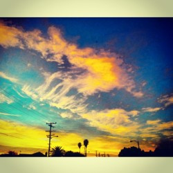 Just. #Beautiful. ⛅ #sunset #cloudporn #sky #clouds #losangeles #california