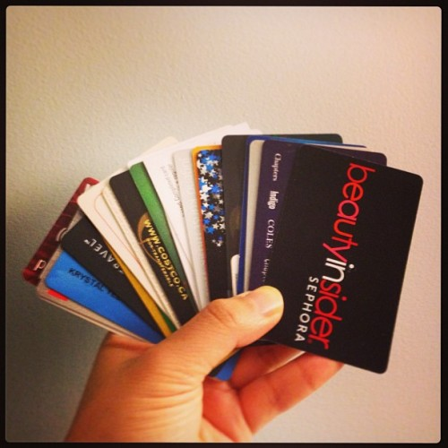 How many cards do you carry in your wallet? :)