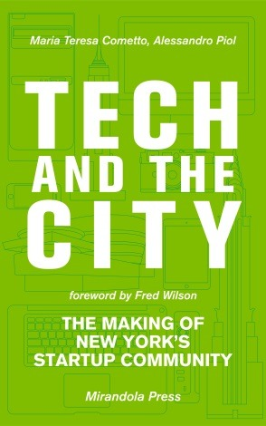 "Tech and the City: The Making of New York's Startup Community   Comments 0        Tech and the City: The Making of New York's Startup Community is a new book by Alessandro Piol and Maria Teresa Cometto that looks at the exploding tech startup scene in New York City including an interview with Shapeways CEO Peter Weijmarshausen .   ""Tech and the City"" is the first book telling the story of how and why this is happening: from the birth of Silicon Alley in the '90s to today's level of activity and important milestones, such as the building of the Cornell NYC Tech campus. Based on over 50 interviews with entrepreneurs, angel investors, venture capitalists, university professors, members of the Bloomberg administration and other stakeholders, this book's objective is to inform and inspire the current generation of entrepreneurs.    Just released on Kindle for less then the price of a decent coffee in NYC and soon to be released on Paperback the book is perfect for anyone who is interested in tech or curious as to why New York City is fast becoming a central hub, attracting entrepreneurs  Drink one less coffee and download the book, or it is free if you are already an Amazon Prime member."