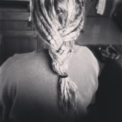 dreadlockinfo:  Ashley trashleysharp.tumblr.com just after I made my dreads using the twist and rip method