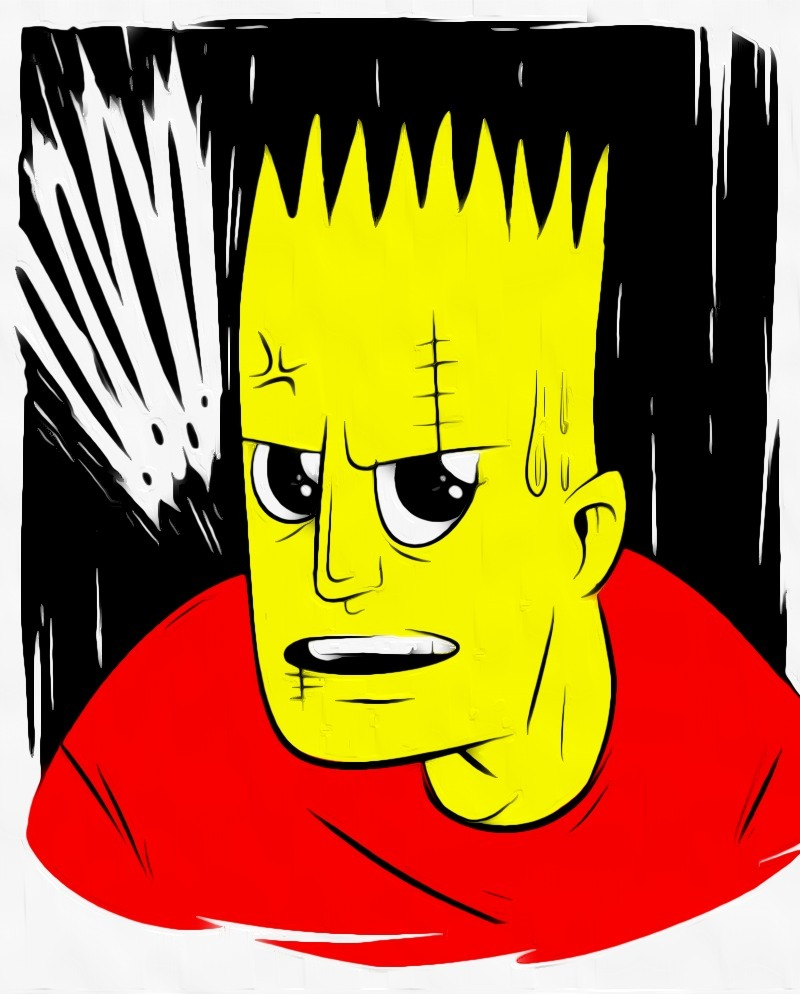 Sketched a practice Bart to gear up for my Bartkira pages later this week.