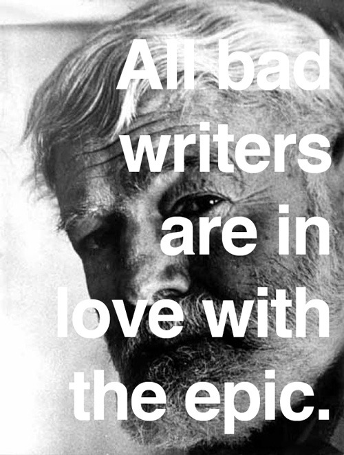 explore-blog:  Hemingway on writing.