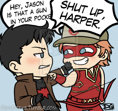 Shut up, Harper. by *DeanGrayson I ship them like FedEx.