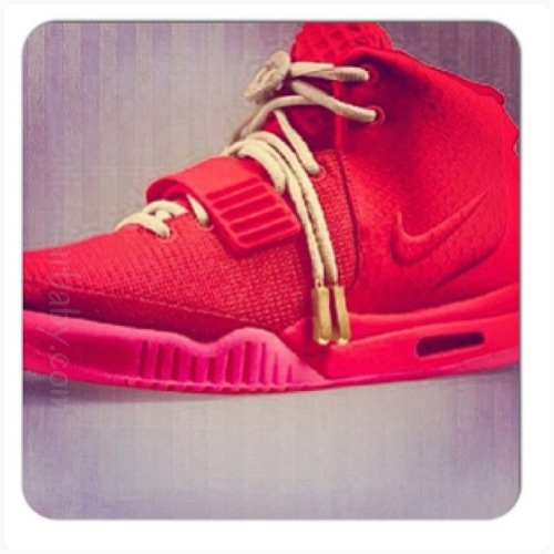 A Closer look at the red colorway of the Air Yeezy 2