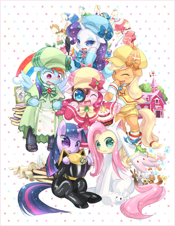 sugarysweet-ponies:  Mane 6 Voices In Japanese by ~tsurukinoki  The Japanese voice cast is freaking fantastic.