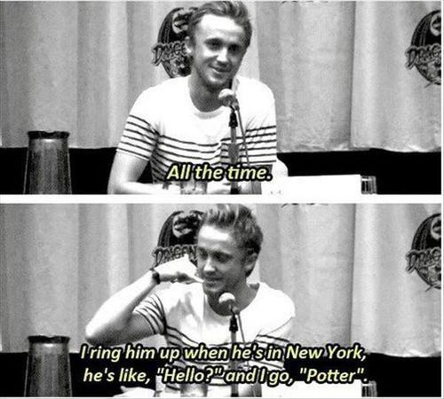 Tom Felton talking about Daniel Radcliffe