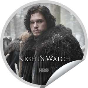 I just unlocked the Game of Thrones: Night's Watch sticker on GetGlue                      40426 others have also unlocked the Game of Thrones: Night's Watch sticker on GetGlue.com                  Send a raven and alert your friends, you're a fan of Game of Thrones. Share this one proudly. It's from our friends at HBO.