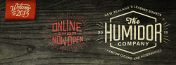 The Humidor Co identity - Facebook Header Design: Alex Ramon Mas