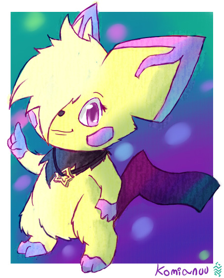 rao-kuraizu:  A pichu with an aurora motif Komianuu sure is a name haha