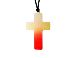 Fluorescent Orange & Yellow Dip Dye Cross