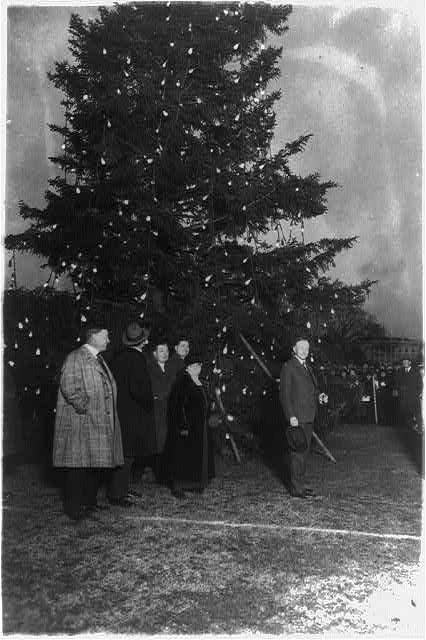 December 24, 1923 President Coolidge lights the National Christmas Tree