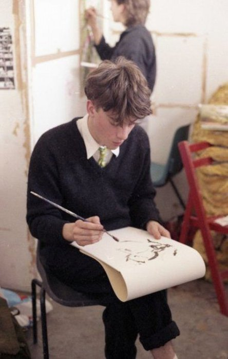 secretempires:  Graham Coxon, back in the day at Goldsmith's College. Before he was a rockstar, when he was a YBA.