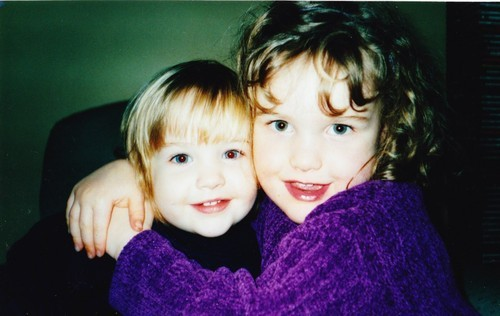 Found this photo of me and my little sister today, awwww