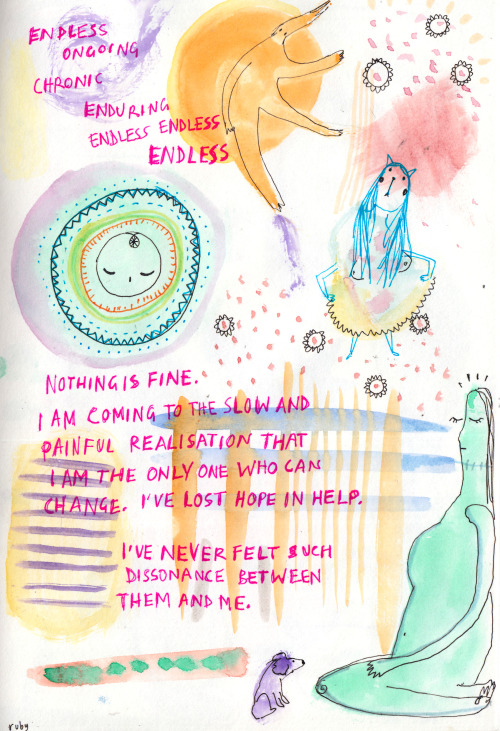 rubyetc:  more of the visual diary thing. Will probably have used up an entire sketchbook by the end of this week oof.