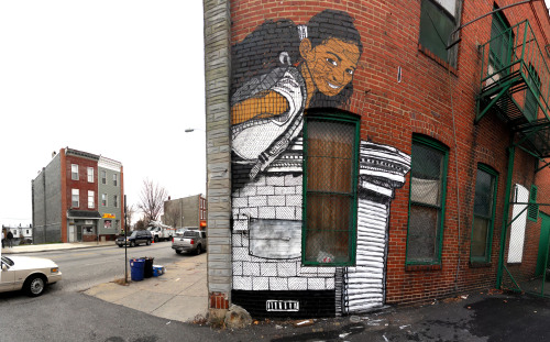 New NETHER wall on Greenmount in Baltimore, MD. Greenmount & 27th Website Flickr