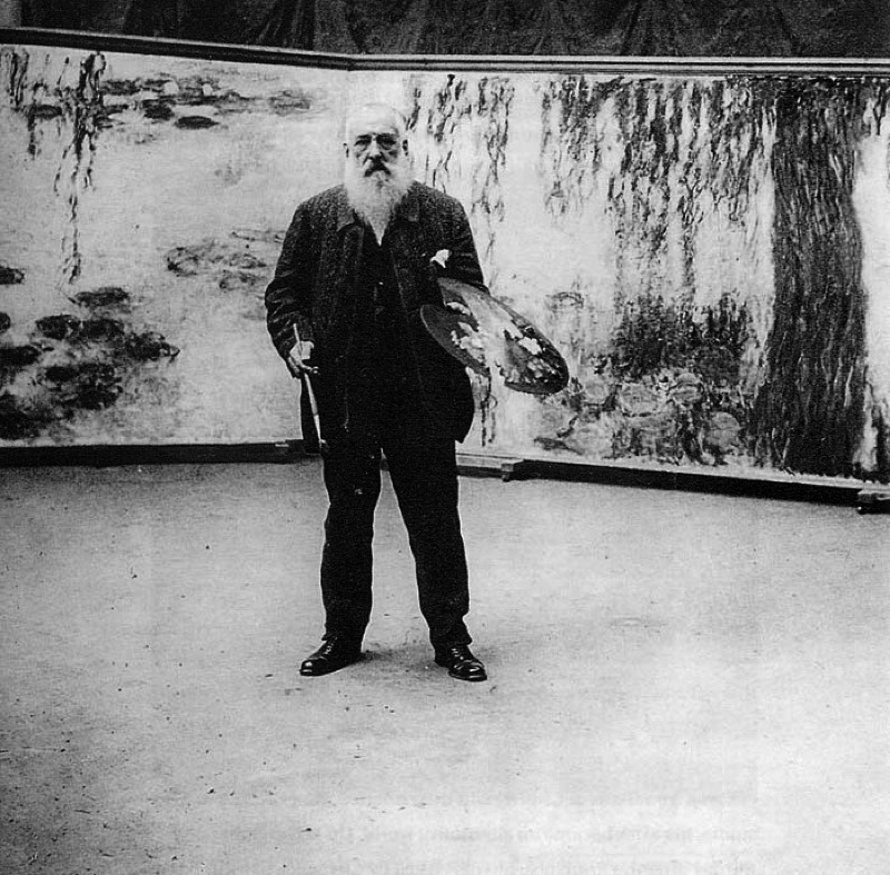 fuckyeahimpressionism:  Claude Monet in his studio