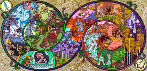 World of The Ringby Jian Guo, this is only the portion that shows The Hobbit