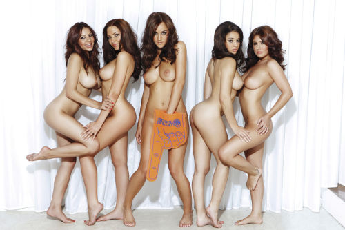 Lacey Banghard, Sabine Jemeljanova, Rosie Jones, Courtney Quinlan and Kelly Hall (From left to right).