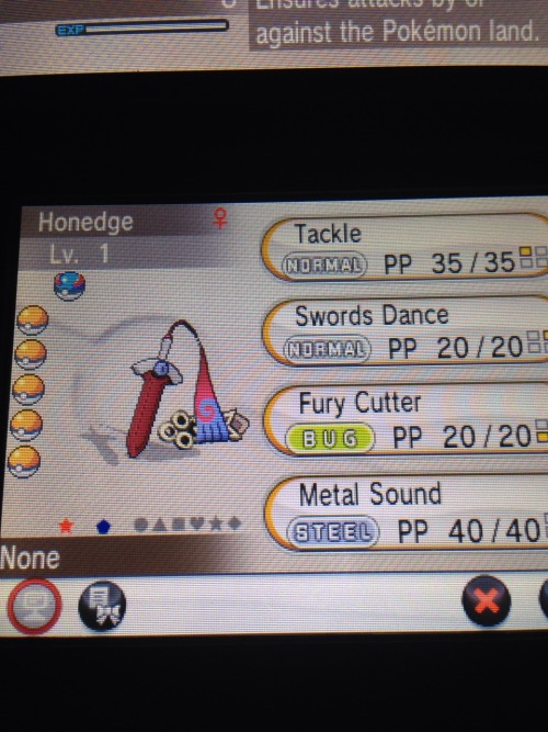 And today a Shiny Honedge! I love the red blade!