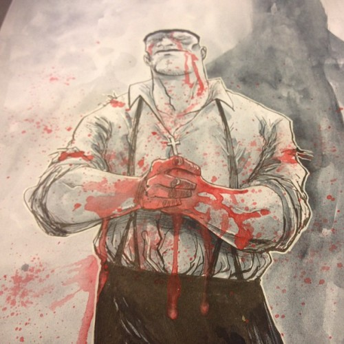 templesmith:  He was good with his hands. #art #painting #drawing #blood #covers