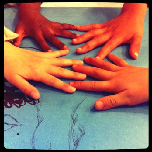 Future artists… This is where it starts. #afterschool #art #hands #ilovemyjob #myjobisbetterthanyours