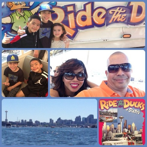 Today we decided to have a family day and we went on  the Seattle Duck Tour Land & Sea.  Lol #Dancemoms #dancedad #Jalen  #instakids #BboyJstyles #Bboy #applecore  #ACDC #BboyJalen #Candyappledancecenter  #ALDC #onaduck
