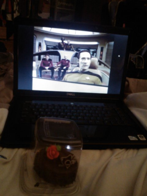 Best way to start off spring break. Lund's chocolate cake and Star Trek!