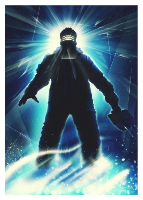 "Deadspace 3 by Ron Guyatt (A Tribute to Drew Struzan's ""The Thing"") This will be part of the Deadspace Release party in Paris France on Feb 7th at Le Dernier Bar Avant la Fin du Monde in Paris, the one and only geek themed bar of the capital!It is an official ""very"" limited edition print through EA and Geek-Art.com that pays homage to the great Drew Struzan and his poster for ""The Thing"" Deviant Art 