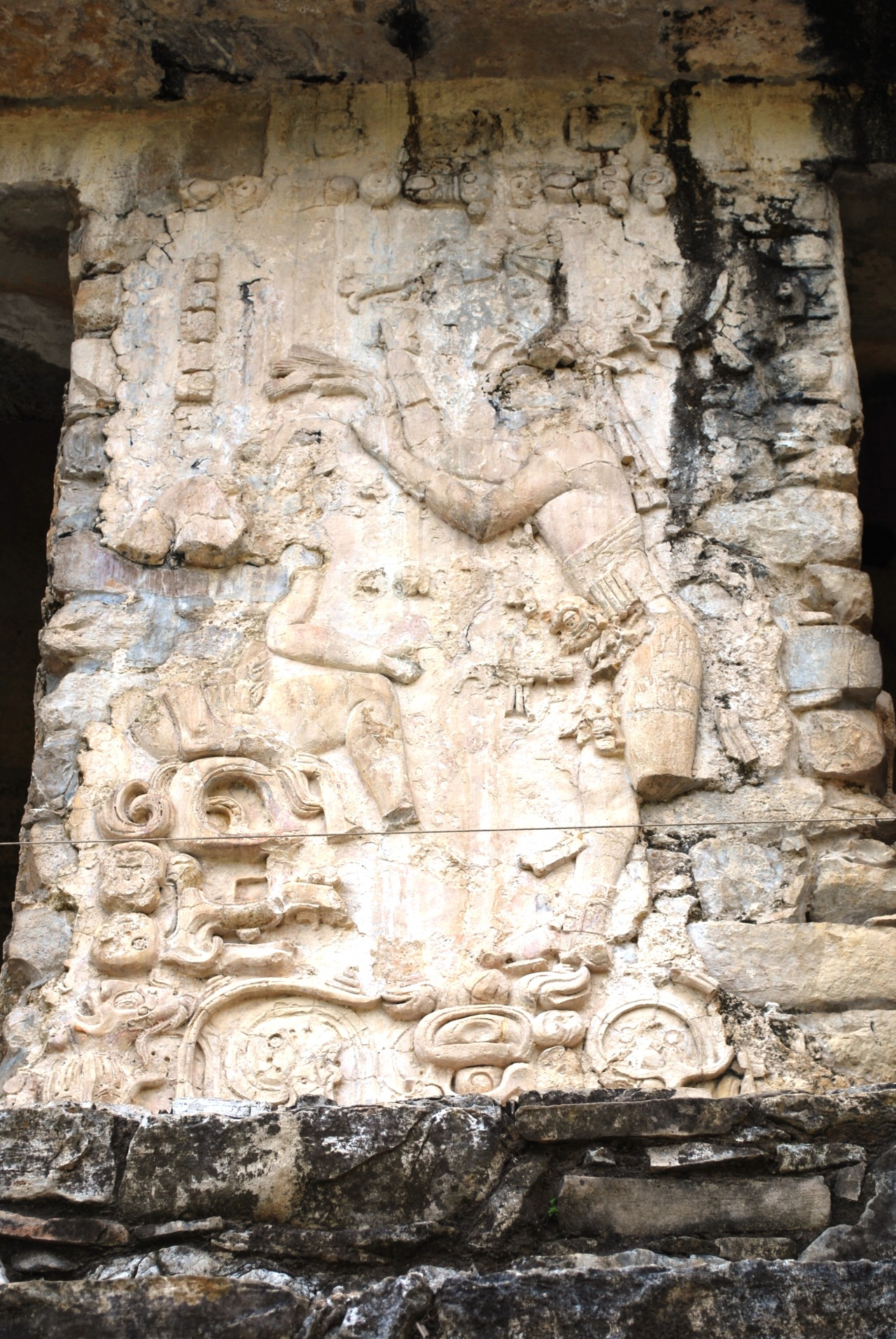 Close up of one of the panels at the Mayan Temple of Inscriptions at Palenque, Chiapas, Mexico. Photo courtesy & taken by AlejandroLinaresGarcia