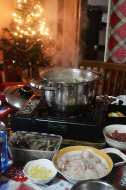 shabu-shabu @ home for lunch and @ sumo sam for dinner during Christmas with the family&relatives!x