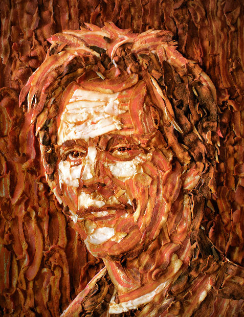 inothernews:  Kevin Bacon, made out of bacon.