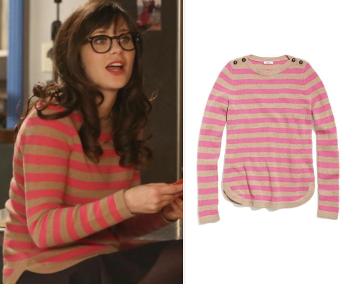 New Girl 2x22 | Bachelorette Party | Jess Day Madewell Bateau Button Sweater - No longer available