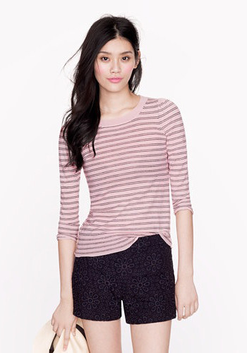 [Lightweight Merino Puff-Sleeve Sweater by J. Crew]