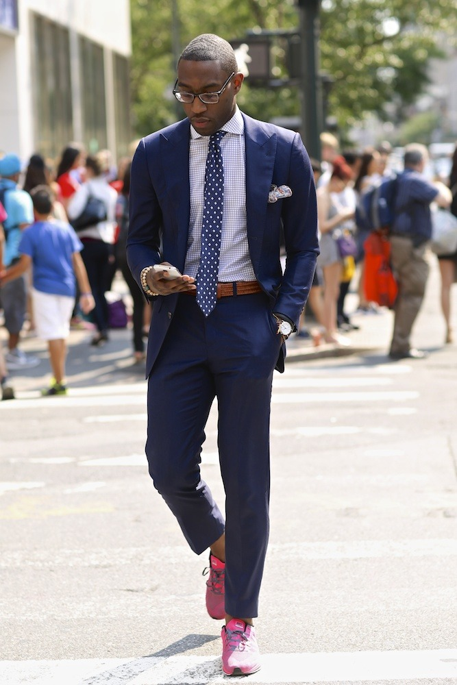 "blackfashion:  "" Taste of New York City: Julius Johnson on the street "" - 23 Years old"