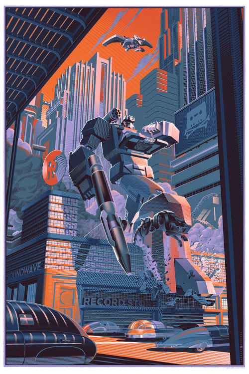 thetransformers:  Soundwave Philadelphia Comic Con Exclusive Screen Print by Laurent Durieux