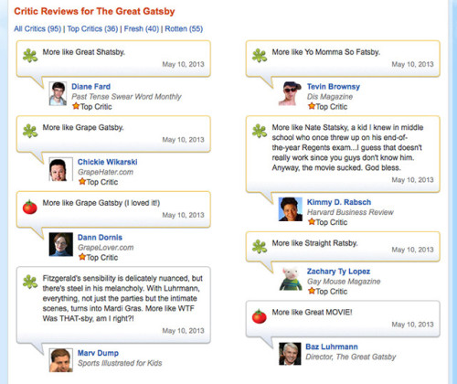 funnyordie:  The Punniest 'Great Gatsby' Reviews Critics, even from these obscure publications, are really reaching with some of their Great Gatsby puns.
