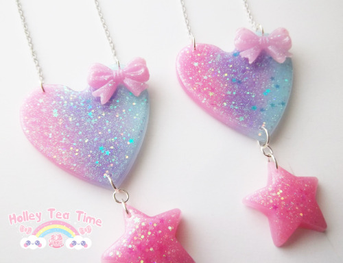 ☆ ♪ New ☆ ♪ Prism galaxy heart - necklace $15