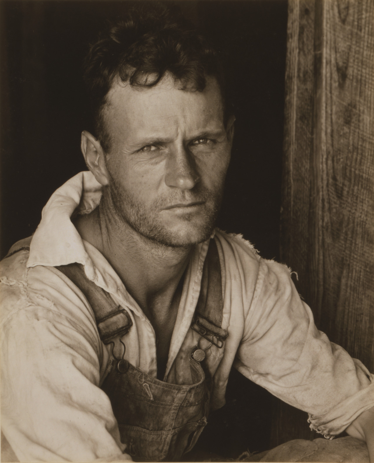 Walker Evans - Floyd Burroughs, c. 1935-1936 Cotton sharecropper, Hale County, Alabama