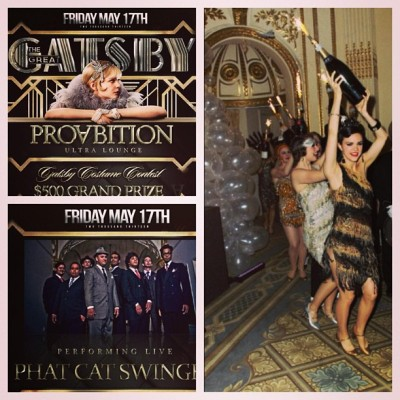 @proabition is holding a Great Gatsby themed party this Friday $500 grand prize to best 1920s costume. Myself and Phat Cat Swinger will be performing live! Start your weekend off different…not the norm. See you Friday!