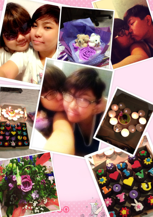 Happy Anniversary to us!! :D thank you for being so patient with me. I love you so damn much. ;)